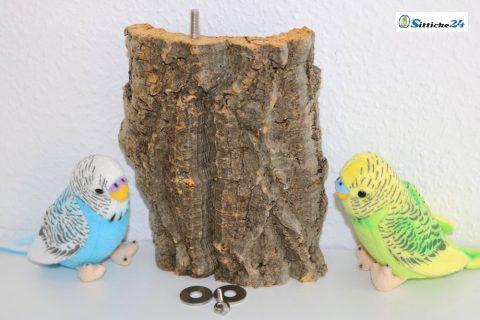 Dieses gesunde Vogelsitzbrett ist perfekt als Käfigausstattung für Wellensittich Käfige und Volieren geeignet - Sittiche24 versendet bundesweit zum Beispiel an Vogelfreunde in Nürnberg, Bonn, Bielefeld oder Hamburg.