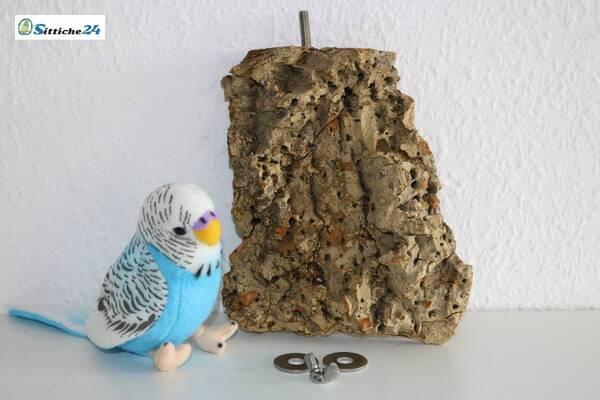 Kork als Vogelbrett zu befestigen im Vogelkäfig oder der Voliere.