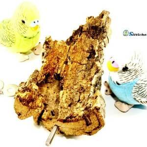 Korksitzbrett als gesundes Vogelspielzeug im Vogelgeschäft Sittiche24 etwa für Backnang, Neckarsulm, Leonberg oder Wiesloch.