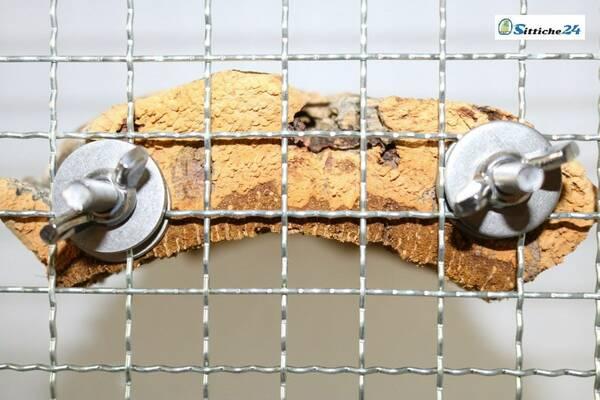Sitzbrett für Vögel einfach an Vogelkäfig oder Voliere befestigen.