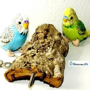 Vogelsitz aus Naturkork für Wellensittiche & Co im Vogelgeschäft Sittiche24 etwa für Filderstadt, Nagold, Offenburg oder Leimen.