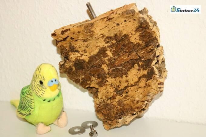 Vogelsitzbrett als gesundes Sittich Spielzeug für ausgeglichene und gesunde Vögel versandfertig für Düsseldorf, Essen, Borken oder Bottrop.
