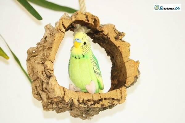 Vogelschaukel aus Kork für Wellensittiche & Co 4503