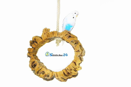 Eine Vogelschaukel aus Kork ist Nr.1 Zubehör für Vogelkäfige & Volieren.