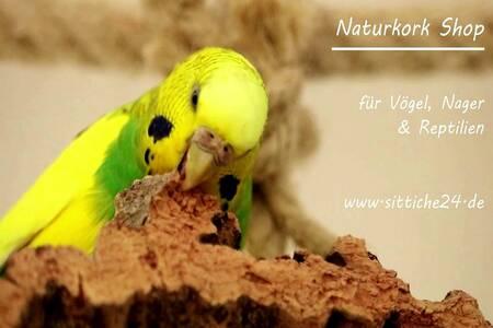 Naturkork Vogelzubehör. Die wertvolle Naturkork Rinde eignet sich ideal als gesundes Vogelzubehör für Vogelkäfige und Volieren!